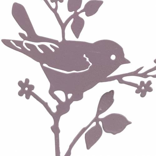 Vogel mit Stab Metall Sortiert Bunt H12cm 10St