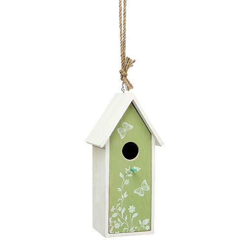 Vogelhaus Grün zum Hängen 25cm x 9cm