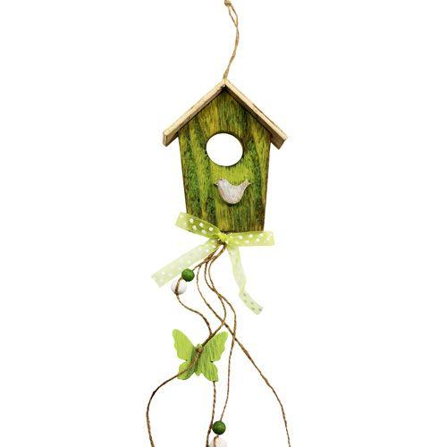 Vogelhaus zum Hängen Grün 15cm L65cm 3St