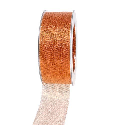 Weihnachtsband Kupfer 40mm 25m