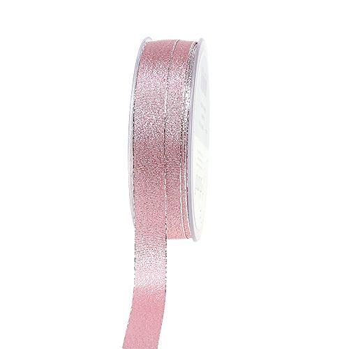 Weihnachtsband Rosa-Silber 15mm 20m