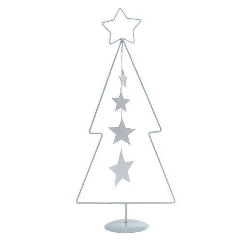 Weihnachtsbaum Metall Weiß H53,5cm