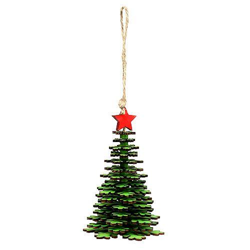 Weihnachtsbaum zum Hängen Grün 14cm