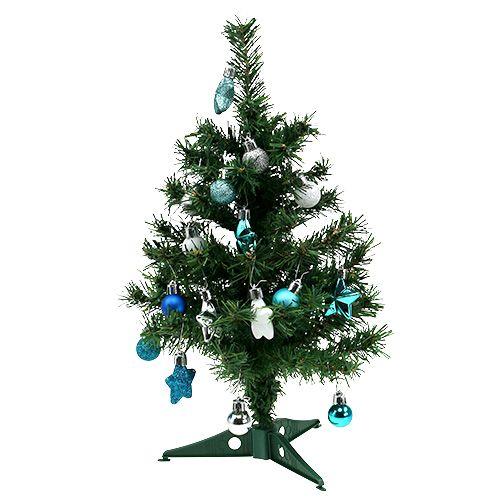 weihnachtsdeko mini baum blau sort 40cm gro handel und. Black Bedroom Furniture Sets. Home Design Ideas