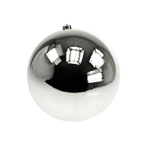 Weihnachtskugel Plastik klein Ø14cm Silber