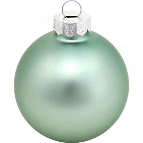 Christbaumschmuck, Baumkugel-Mix, Mini-Weihnachtskugeln Blau H4,5cm Ø4cm Echtglas 24St