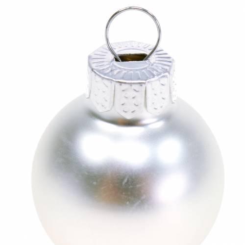 Mini Weihnachtskugel Silbern Sortiert Ø2,5cm 24St