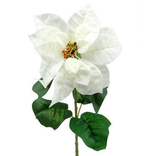 Weihnachtsstern Kunstblume Weiß 67cm