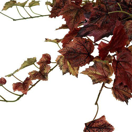 Weinlaub Hänger Grün, Bordeaux 67cm
