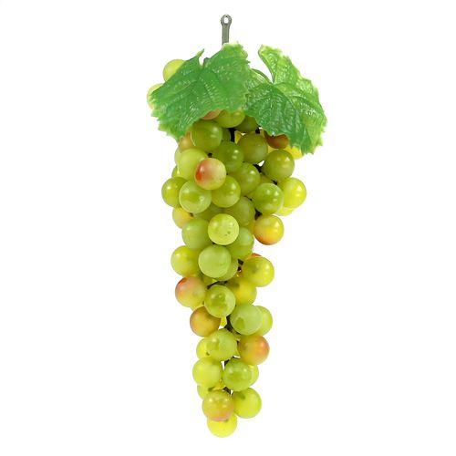 Weintrauben mit Blatt Hellgrün 22cm