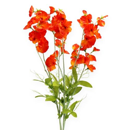 Wicke Kunstblume Orange, Rot 72,5cm 3St