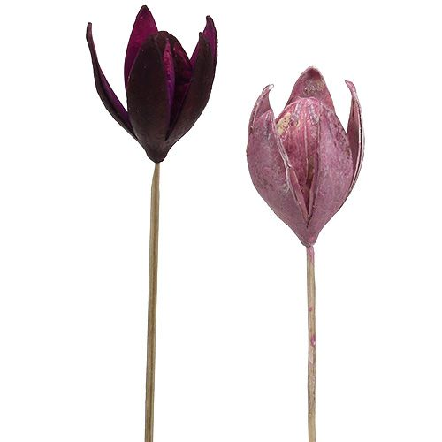 Wildlilie zum Dekorieren am Stiel Mix Rosa, Erika 45St