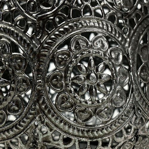 Windlicht Silber Ø12cm H13cm 1St
