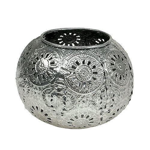 Windlicht Silber orientalisch Ø12cm H9cm