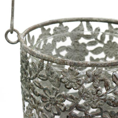 Hängewindlicht Antik Metall Ø10cm H21cm 2St