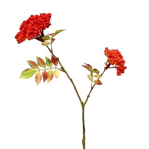 Zweig mit Beeren Orange 53cm