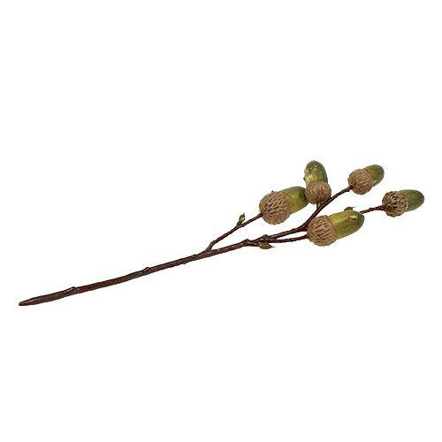 Zweig mit Eichel Braun, Grün L30cm