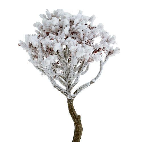 Zweig mit Schnee 22cm 3St