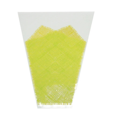 Blumentüte Jute-Muster Gelb L40 B30cm - 12cm 50St