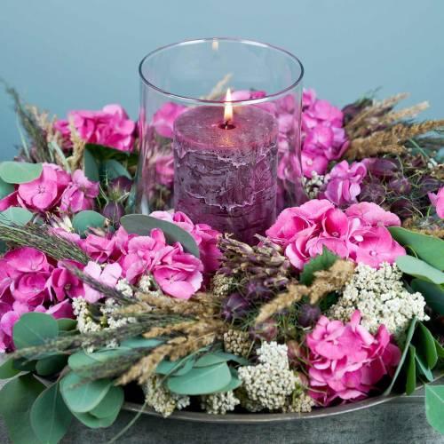 Durchgefärbte Kerzen Burgund unterschiedliche Größen