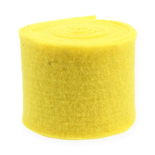 Filzband Gelb 15cm 5m