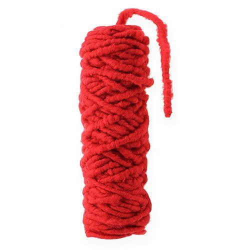 Filzkordel Flausch Mirabell 25m Rot