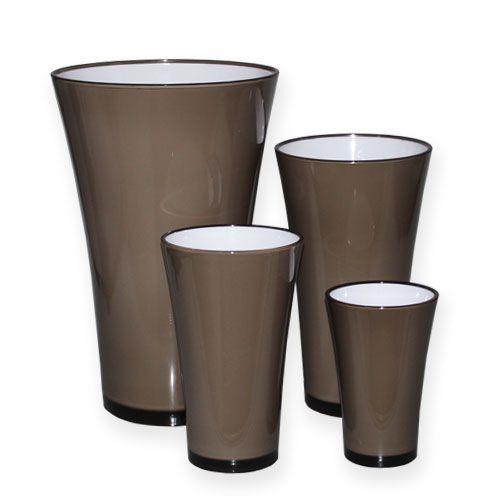 """Vase """"Fizzy"""" Platingrau"""
