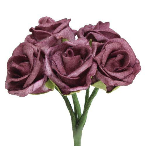 Foam Rose Bordeaux Ø3,5cm 30St
