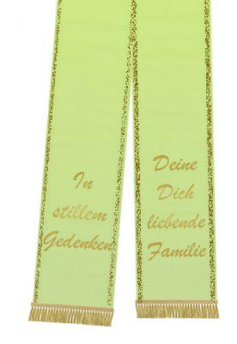 Trauerband bedruckt 125mm x 75cm frühlingsgrün