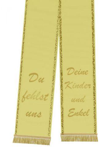 Trauerband bedruckt 125mm x 75cm gelb
