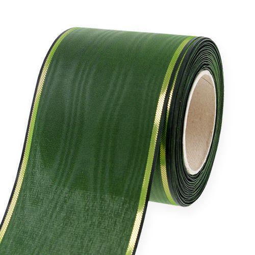 Kranzband Dunkel-Grün 7,5cm 25m