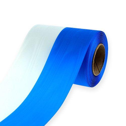 Kranzbänder Moiré Blau-Weiß 125 mm