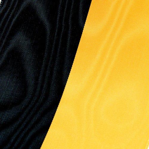 Kranzbänder Moiré gelb-schwarz