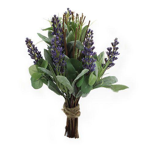 Künstlicher Lavendelbund mit Weide 25cm