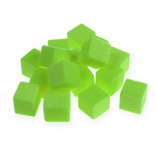 Nasssteckschaum Mini-Würfel Grün 300St