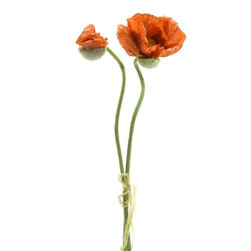 Mohnblume Orange 67cm 2St