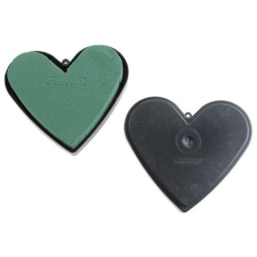 Steckmasse Herz mit Boden 13cm 6St