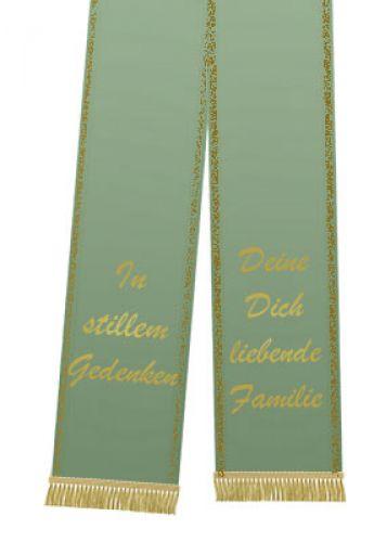 Trauerband bedruckt 125mm x 75cm olive
