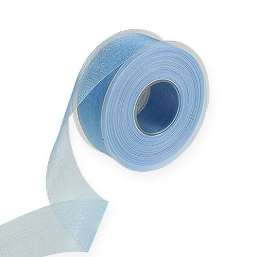 Organzaband in Blau 40mm 50m
