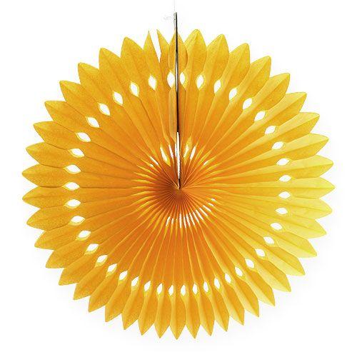 Blumen-Dekohänger Wabenpapier Gelb Ø40cm 4St