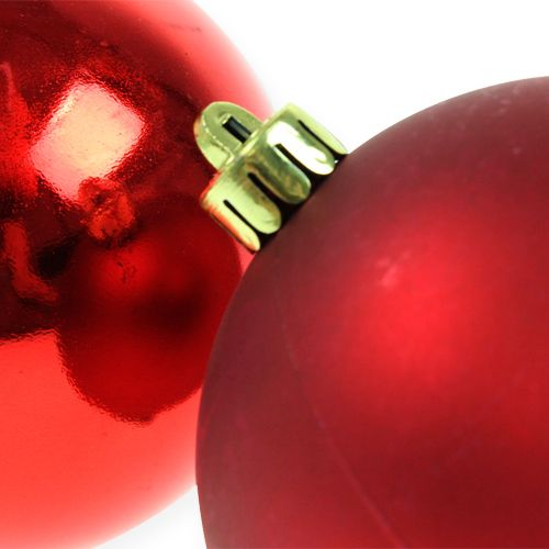 Weihnachtskugel Rot 10cm 4St