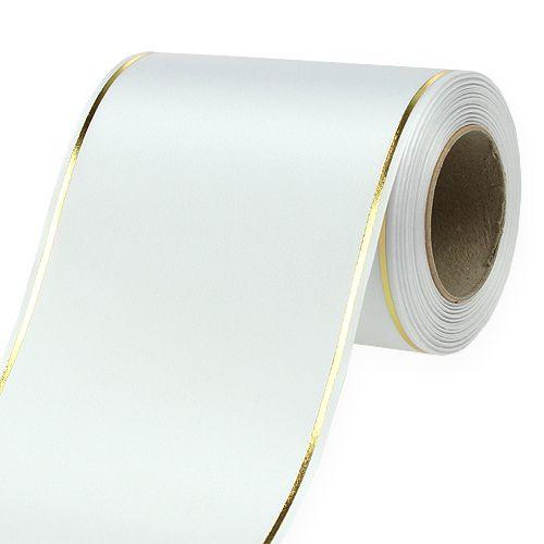 Kranzband Weiß Computerdruck 125mm 25m