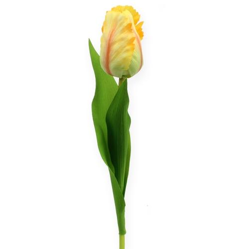 Seidenblume Tulpe Gelb 43cm 4St