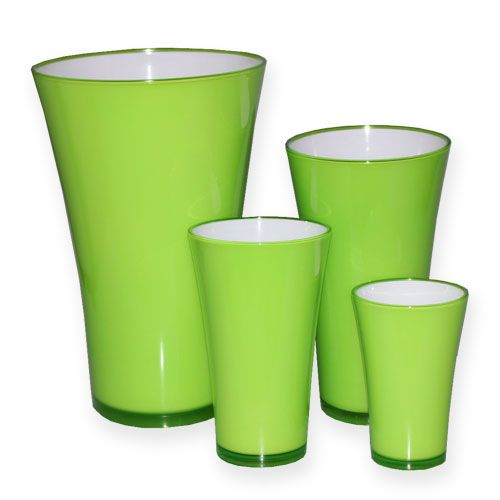"Plastik Vase ""Fizzy"" Apfelgrün"