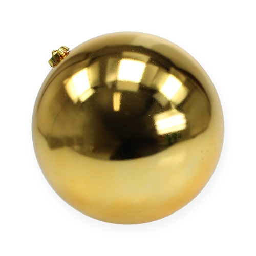 Weihnachtskugel mittel Gold 20cm Plastik