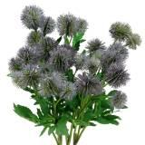 Distel Seidenblume Blau 56cm 3St