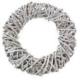Deko Kranz Lianenholz Weiß gewaschen Ø50cm