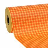 Manschettenpapier 37,5cm Hellorange Karo 100m