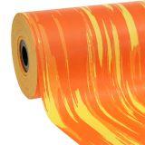 Manschettenpapier gestreift Orange, Gelb 25cm 100n
