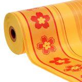 Manschettenpapier Blumenmuster 37,5cm 100m Gelb, Rot